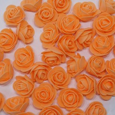 画像2: 【S】フラワーベア用 ローズヘッド オレンジ 100輪