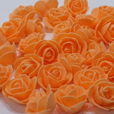 画像1: 【S】フラワーベア用 ローズヘッド オレンジ 100輪