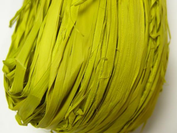 画像1: ラフィアロープカラー カラシ (1)