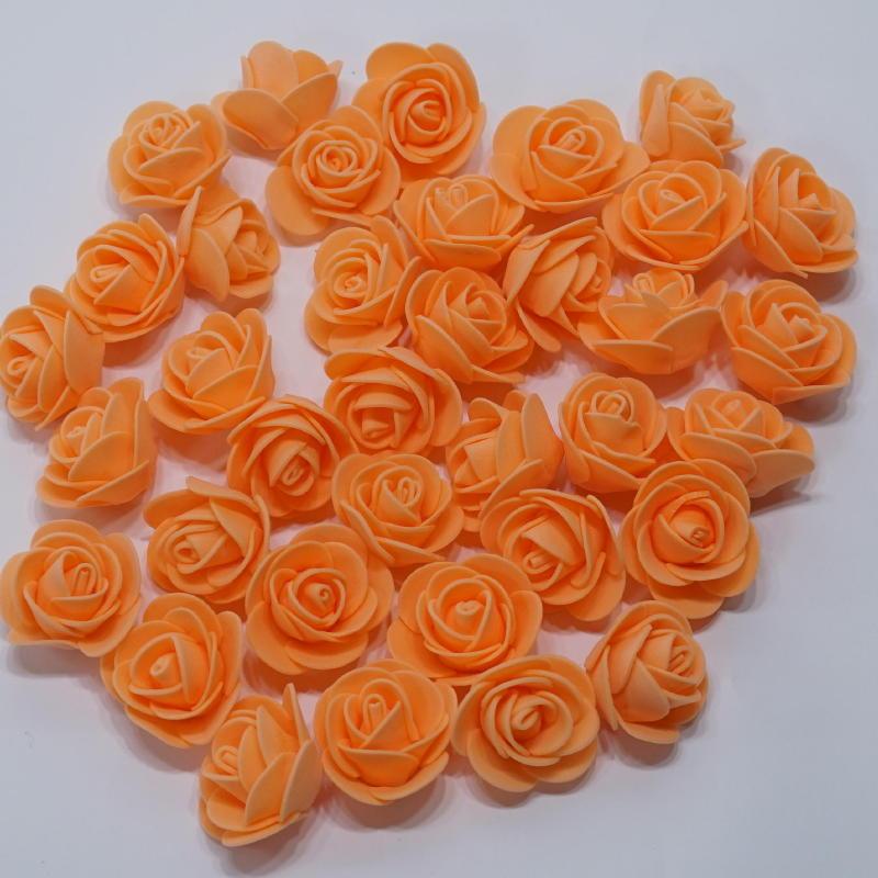 画像1: 【S】フラワーベア用 ローズヘッド オレンジ 100輪 (1)